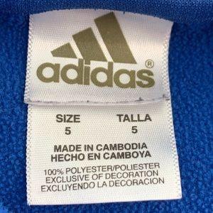 adidas Shirts & Tops - Adidas Blue Hooded Fleece Lined Sweatshirt 5